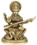 Mata Saraswati - Brass Sculpture BS0230