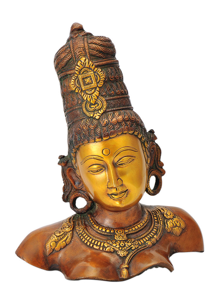 Ma Parvati Bust Figure in Traditional Style 11.75""