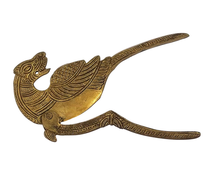 "Brass Decorative Betel Nut Cutter ""Mythical Creature Yali"""