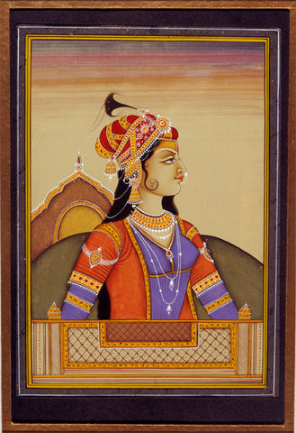 Mugal Queen-Indian Miniature Painting