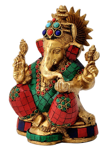 Brass Sculpture Ganpati Maharaj