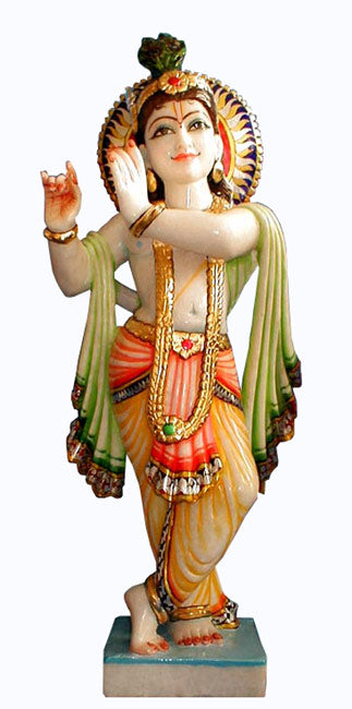 Bachelor Krishna-Marble Sculpture