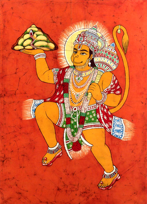 'Jai Sri Ram' Lord Hanuman Painting