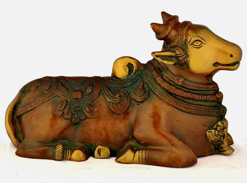 The Holy Nandi Bull - Brass Statue