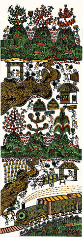 The Country Side - Warli Tribe Painting