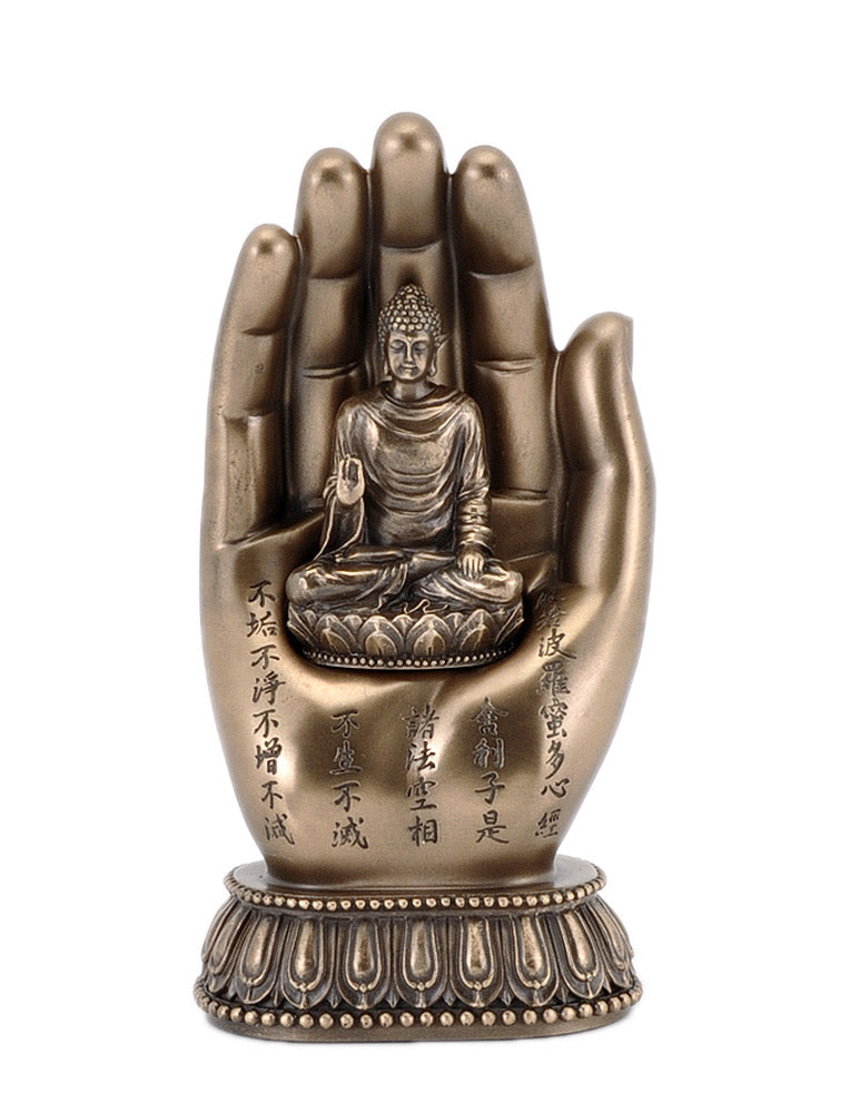Seated Buddha Palm High Quality Statue
