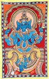 Ganesha in Blue-Asian Art Painting