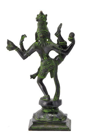 Dancing Lord Shiva Brass Figure