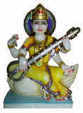 Bhagwati Saraswati-Small Sculpture for Home Temple 12""