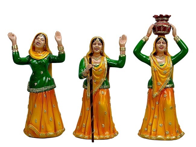 'Gidda' Ladies Dance of Panjab - Fiber Dolls
