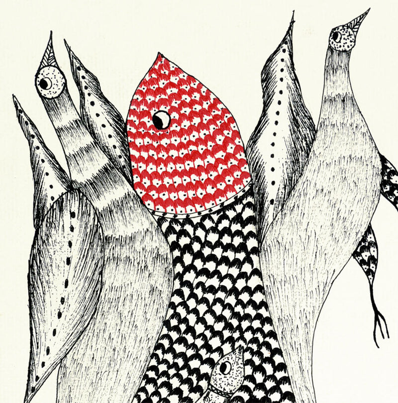 The Big Catch - Gond Painting
