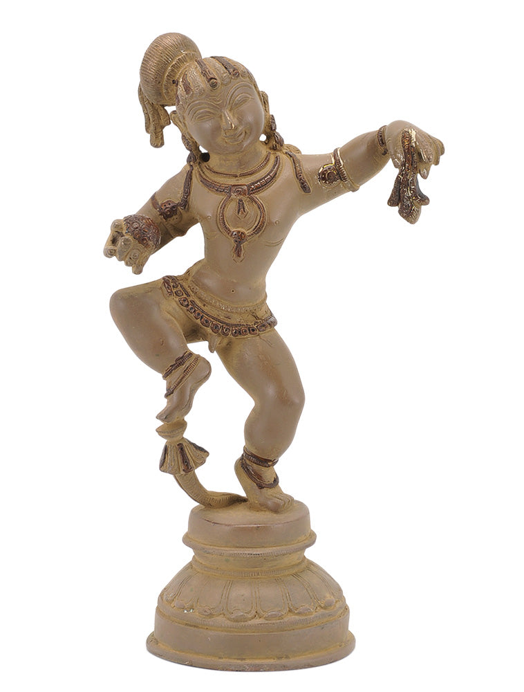 Antiquated Brass Baby Krishna