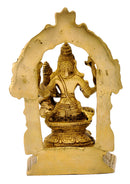 Lord Narasimha Lakshmi Brass Sculpture