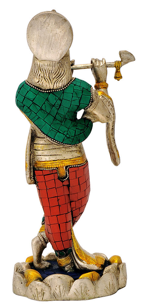 Shri Krishan Ji - Exquisite Brass Sculpture
