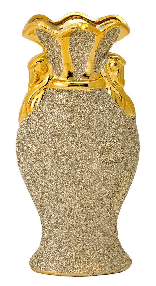 Decorative Golden Ceramic Vase