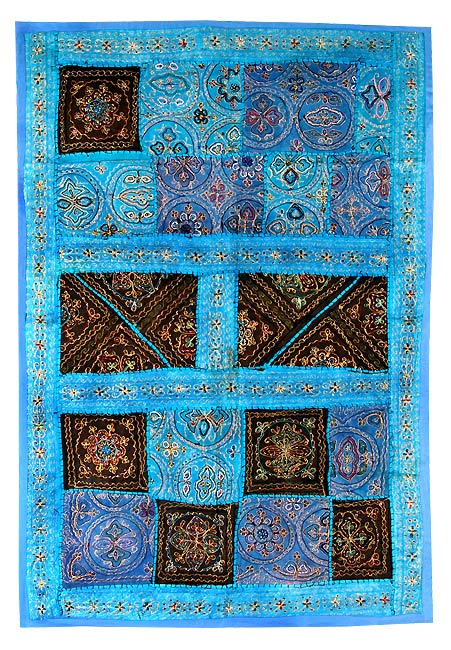 Blue Pond-Traditional Wall Hanging