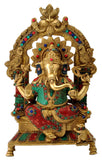 Lord Ganesh Seated on Throne