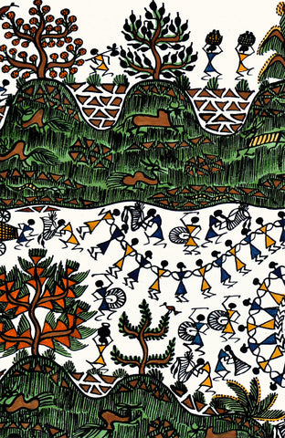 A Warli Painting of India