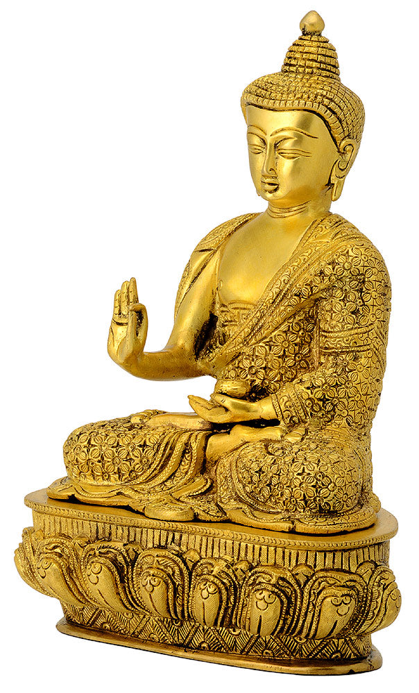Beautifully Engraved Fine Buddha Statue