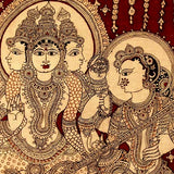 Brahma Dev - God of Creation with Consort Saraswati