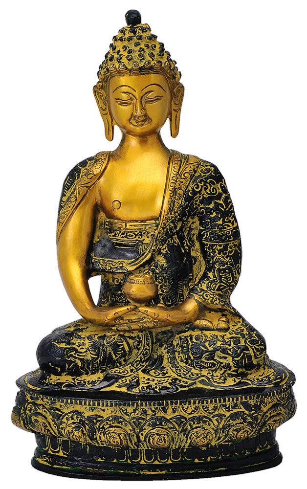 Lord Buddha Brass Sculpture