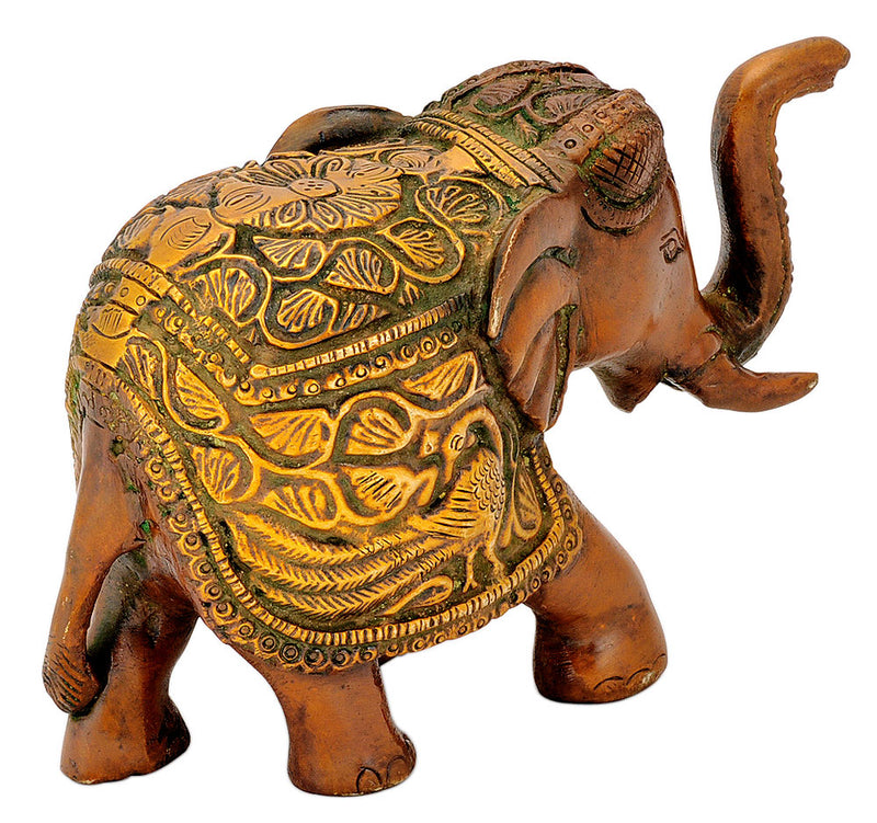 Brass Golden Brown Elephant