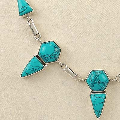 "Turquoise Necklace ""The Glamour"""