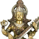 Devi Ma Saraswati - Brass Sculpture