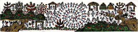 Warli People Painting