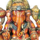 Lord of Success 'Ganesha' Painted Wood Statue