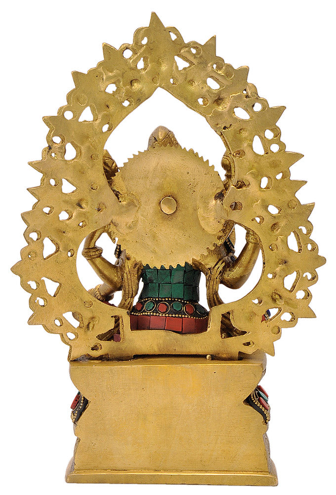 Seated Lakshmi Devi Brass Statue