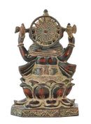 Antiquated Lord Ganpati Deva Brass Sculpture
