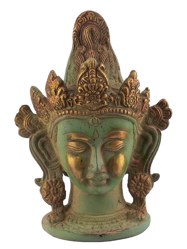 Tara Brass Head Antique Green Finish