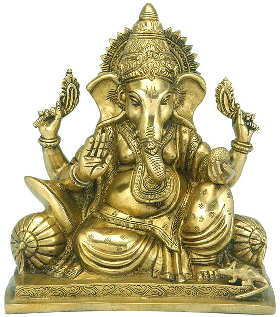 """Lord Vinayak"" First Among All Deities - Brass Sculpture"