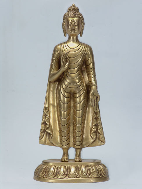 "Blessed to Bless ""Lord Buddha"" Brass Asian Art Statue"
