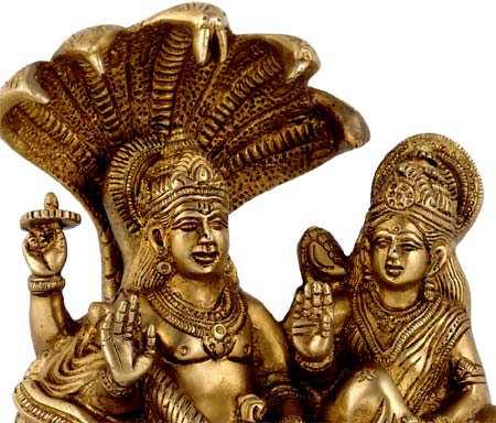 Lord Vishnu Attended by Consort Lakshmi