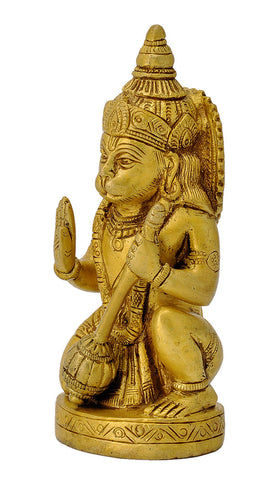 Blessing Lord Hanuman Brass Sculpture