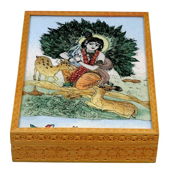 Lovely Krishna - Jewelry Box