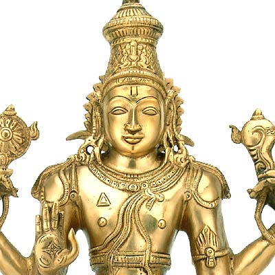 The All Pervading One 'Lord Vishnu' Brass Sculpture 20""