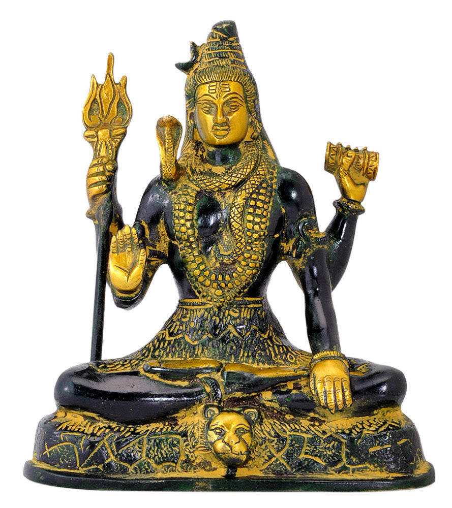 Bhole Mahadev - Brass Sculpture 7.50""