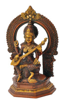 Antiquated Saraswati Surrounded by Beautiful Arch