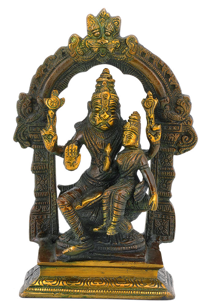 Hindu God Statue - Lord Narasimha and Lakshmi Ma