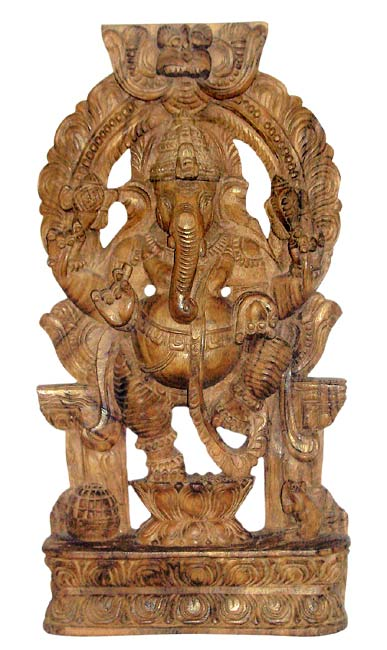 Graceful Ganesha - Wooden Statue