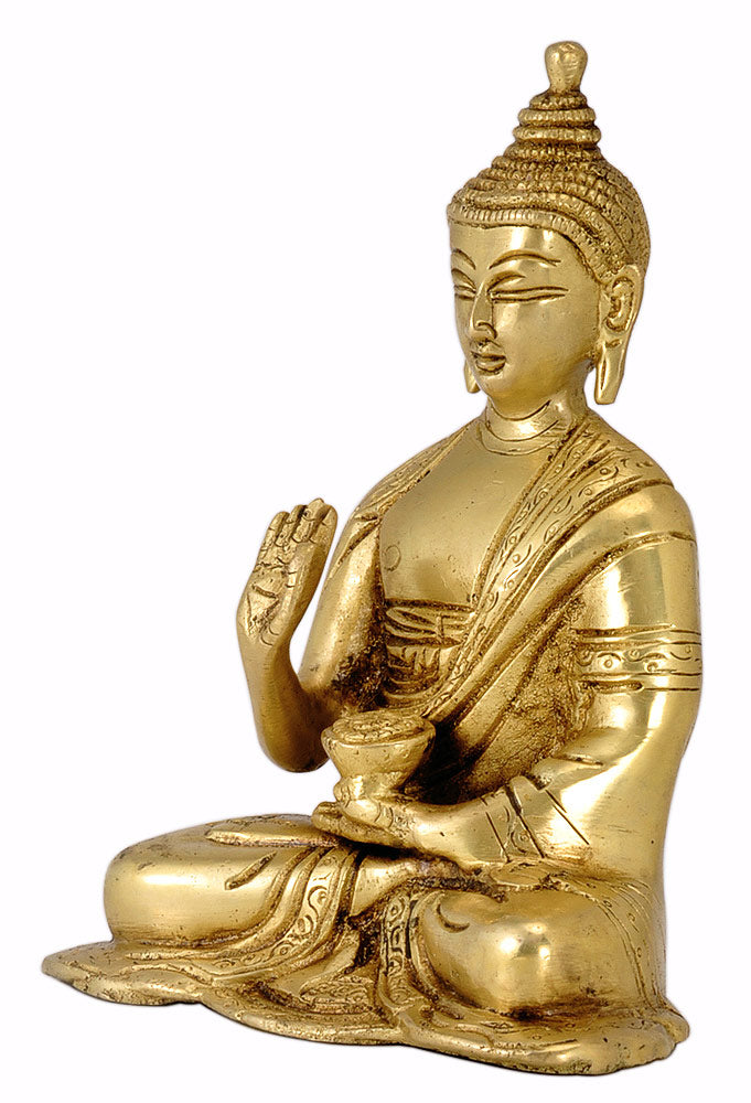 Brass Idol Lord Buddha