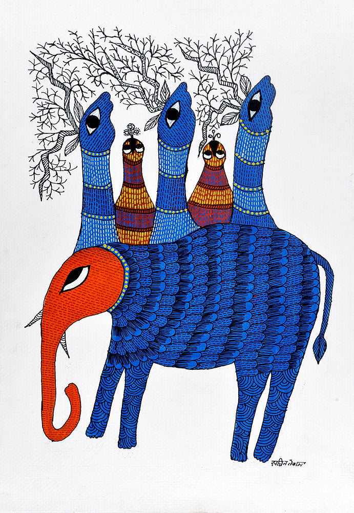 Untitled - Gond Painting