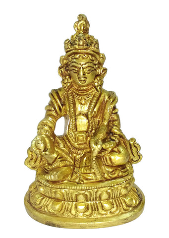 """Lord Kuber"" The God of Wealth Brass Statue"