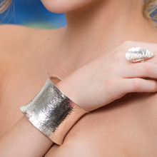 Load image into Gallery viewer, Sterling Silver Ocean Wave Cuff