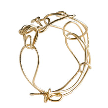 Load image into Gallery viewer, 18kt Gold Endless Love Bangle
