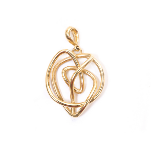 18kt Gold Endless Love Pendant