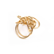 Load image into Gallery viewer, 18 kt Gold Endless Love Ring